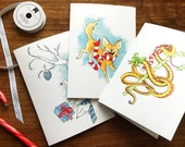3 Wildlife Holiday Greeting Cards (100% of proceeds to IRCO)