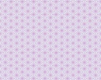 HALF YARD - STOF Fabrics - Asanoha Design Purple Colorway - Quilters Basic Harmony Collection 4520-503