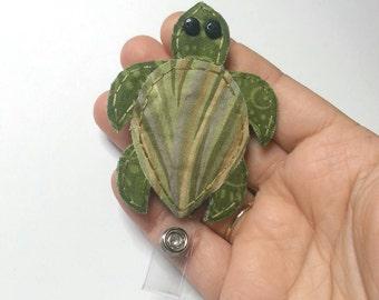 Sea Turtle Badge Reel,Turtle Badge Card Holder,Turtle, Handmade Turtle ID Holder, Nursing Name Badge Holder,Sea Turtle, Badge Reel, Lanyard