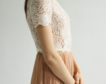 Sale -Carla--Lace wedding top separate--
