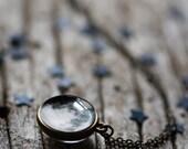 Double face de lune pendentif - Lune 2 Dates, anniversaire cadeau, lune sur votre anniversaire personnalisé - collier Bijoux céleste - personnaliser