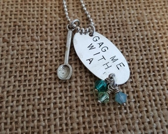 Valley Girl - hand stamped necklace
