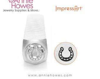 Impressart Metal Stamp  - Lucky Horseshoe Design