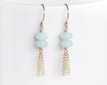 saint tropez - gold tassel earrings