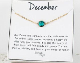 December Birthstone Gold Bracelet, Blue Zircon Bangle Bracelet, December Birthday Bracelet, Gold Bracelet, December Birthstone Bracelet