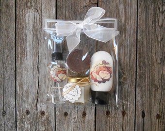 Coconut Spa Gift Set~ Soy Candle~ Tropical~ Carribbean Coconut Mango