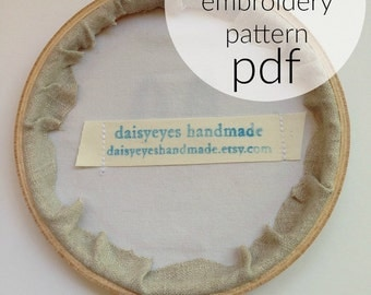 custom hand embroidery PATTERN - instant download - PDF pattern - your design made to be stitched - hand embroidery art - embroidery pattern