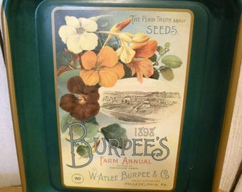 Vintage Burpee Seed Nasturiums Advertising Tray collector series No Scratches ECS RDT SVFTeam FVGTEAM