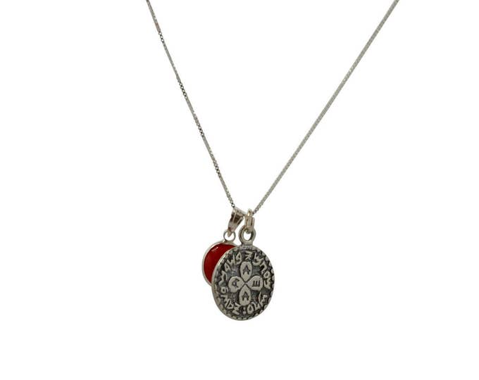 Evil Eye and Love Seal on 935 Sterling Silver Necklace - Men & Women