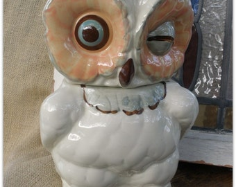 Shawnee Winking Owl Cookie Jar