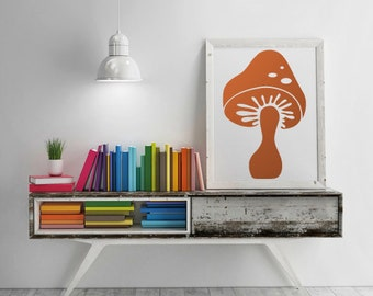 Large mushroom vinyl wall decal