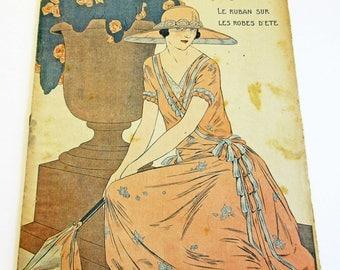 1920's Vintage French Magazine Mode Pratique May 1923 1920's Fashion Sewing & Knitting Antique