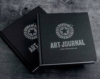 Square & Chunky Black Art Journal (Small 14 x  14 cm)