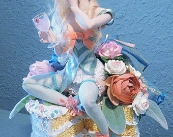 Marie Antoinette Let them Eat Cake OOAK Art Doll by Moninesfaeries