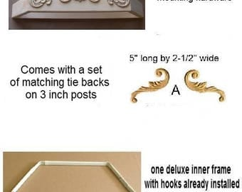 DIY Bed Crown Canopy, canopy for baby, crib canopy,unpainted bed crown