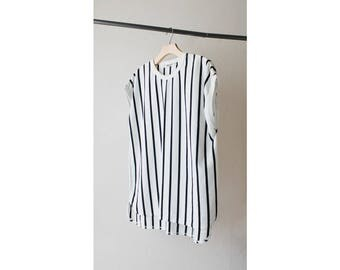 1980s Esprit Vertical Stripes Boxy Tee