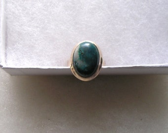 Pretty Sterling Silver 925 Agate Stone Ring Size 8