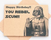Star Wars Darth Vader Birthday card - Star Wars birthday card- Geek birthday card - funny Star Wars card - Funny Darth Vader card