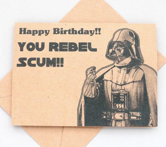Star Wars Darth Vader Birthday card - Star Wars birthday card- Geek birthday card - funny Star Wars card - Funny Darth Vader card
