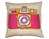 Holga Camera Cushion - Retro Camera Pillow - Gift for Her