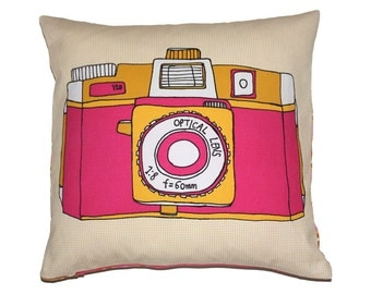 Holga Camera Cushion - Retro Camera Pillow - Gift for Her