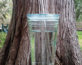 Eco friendly glass drinking straws - set of 4