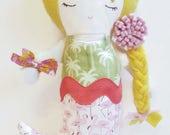 Little Mermaid | Mermaid Toy | Mermaid Doll | Handmade Doll | Rag Doll | Nursery Decor | Plush Doll | Mermaid Birthday | Mermaids