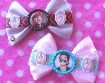 GOT7 Mark & Junior JR Sexy KPOP Hair Bows