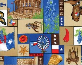 Texas Trail Fabric - Bluebonnet Blue - 1/2 Yard