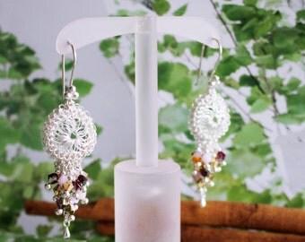 Peruvian Point Silver Earrings