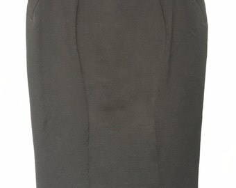 Gianni Versace panaled stretch pencil skirt