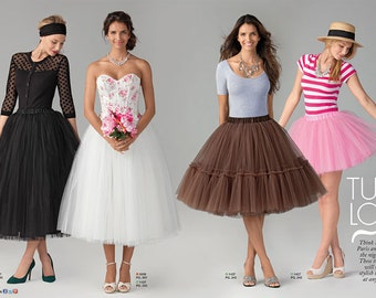 Misses' Tulle Skirts - Simplicity 1427 / S0521 - Tulle Skirts in 3 Lengths - Sizes:  4 -6 -8 -10 -12 or 14 -16 -18 -20 -22