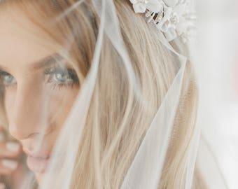 Bridal Wreath, Bridal Vine, Bridal Wreath, Silver Leaf Vine, Crystal Vine, Gold Leaf Vine, Bridal Crown, Freshwater Pearl Wreath #1705