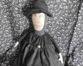 Handmade Folk Art Witch Doll - Freaky Frieda **Special**