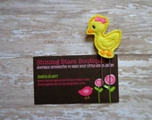 Planner Clips - Yellow And Orange Baby Chick Or Duck With A Hot Pink Bow Felt Paperclip Or Bookmark - Easter/Farm Animal Accessory For Books