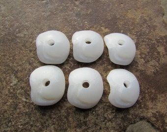 LUCKY STONE Beads Large Hole Stone Beads Beach Glass Sea glass Beads 3mm