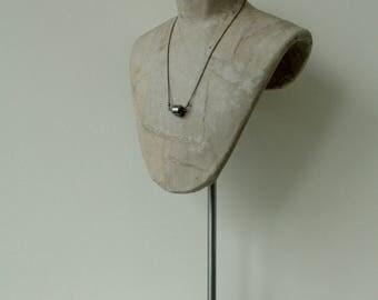 nugget necklace grey