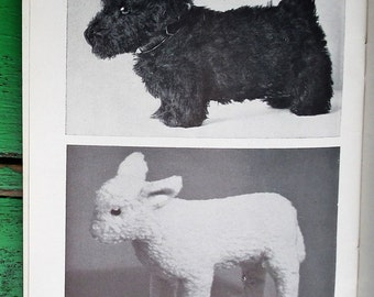 The Making of Soft Toys Vintage 1930s 1940s Sewing Book by C. Elliot Edlmann Dryad Press UK Soft Toys Patterns teddy bear dogs duck rabbit