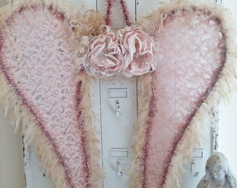 Fairy Angel Wings Pink And Cream