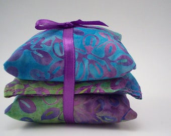 Lavender Sachets -  Dragonfly and Butterfly Batik