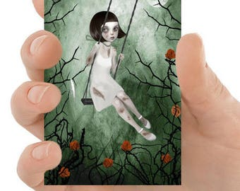 Rose ACEO Card - Pop Surrealism ACEO Print - Girl Art - Rose