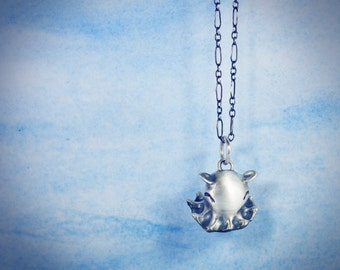 """Octopus Necklace! Adopt an Adorabilis Dumbo Octopus  Necklace in Sterling Silver, Bronze, Or Gold on a LONG 30"""" Chain. Great for Layering!"""
