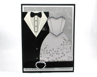 Elegant wedding cards, wedding day cards, bride groom, congratulations, love, wedding dress, wedding gown, tuxedo