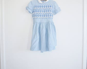 Vintage Blue Girl's Dress