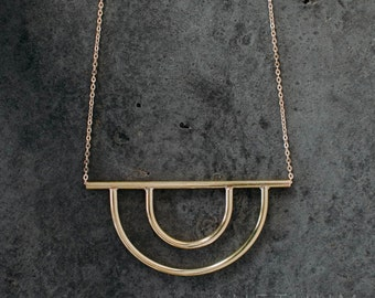 Secant II Necklace Double Hoop Necklace