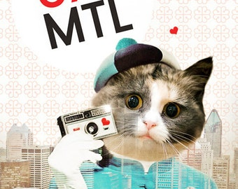 Cat Art Expo 67 Montreal 375 Birthday Bonne Fête - 375 MTL