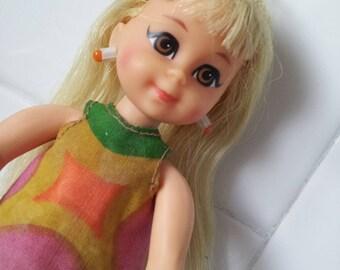 RARE Vintage Mattel Blonde TUTTI CHRIS Doll Original outfit and shoes