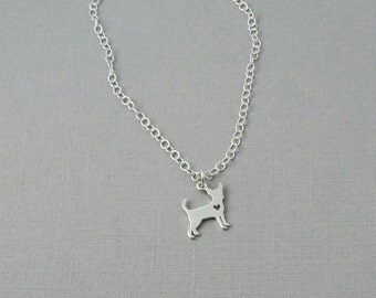 Chihuahua Charm necklace / dog lover / puppy / dog necklace