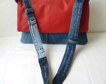 recycled denim jeans bag, denim bag, levi bag, denim bag, upcycled bag , man bag, jeansbag, envelope  denim clutch bag,kindle,tablet