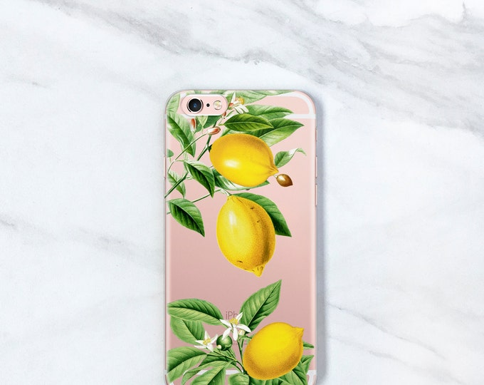 Featured listing image: Lemon Botanical Clear Case